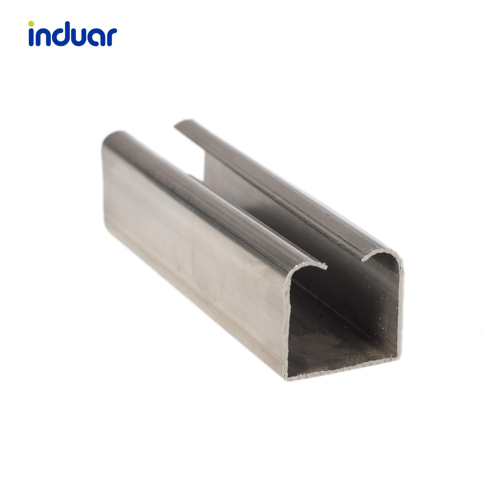 perfil carrilera colgante en aluminio