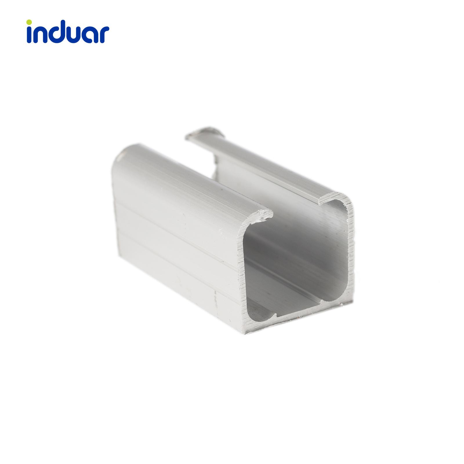 40. perfil carrilera colgante en aluminio